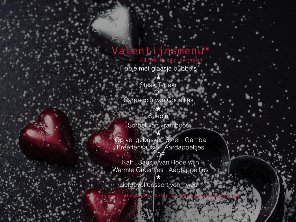 Valentijnsmenu 2020 Bistro Belbu Hasselt